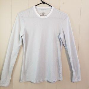 Patagonia Polyester Light Gray Long Sleeve Shirt